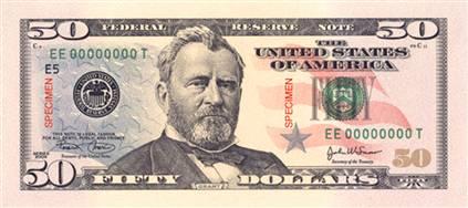 50$ bill photo